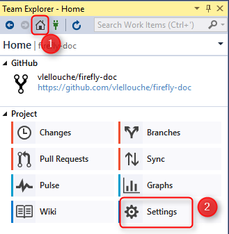 Working with GitHub Fork in Visual Studio